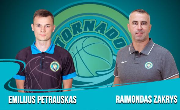 Tornado krepšinio mokyklos trenerių kolektyvą stiprina nauji treneriai